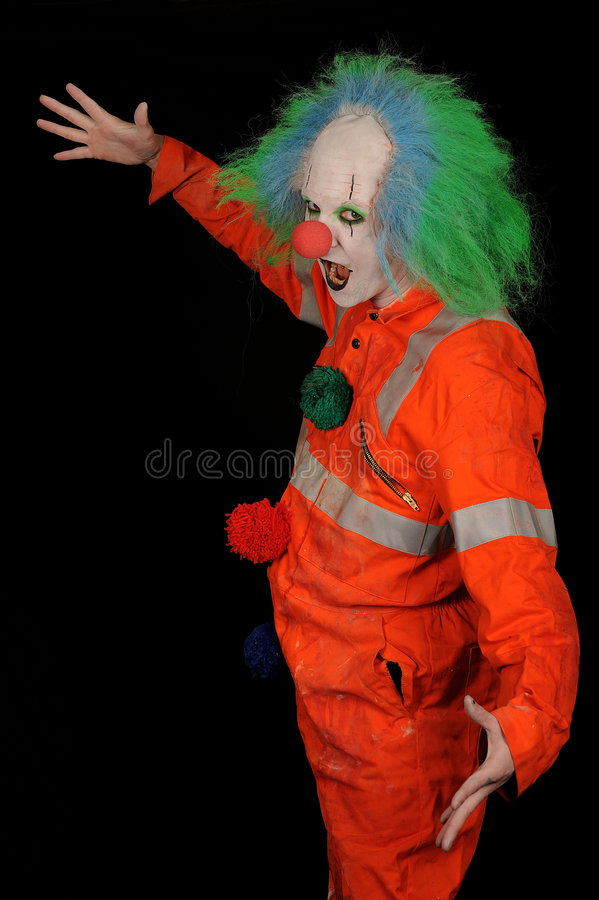 Download Scary clown stock image. Image of face, crazy, concept - 8000285