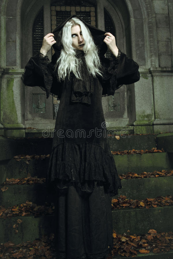 Scary dark witch royalty free stock photo