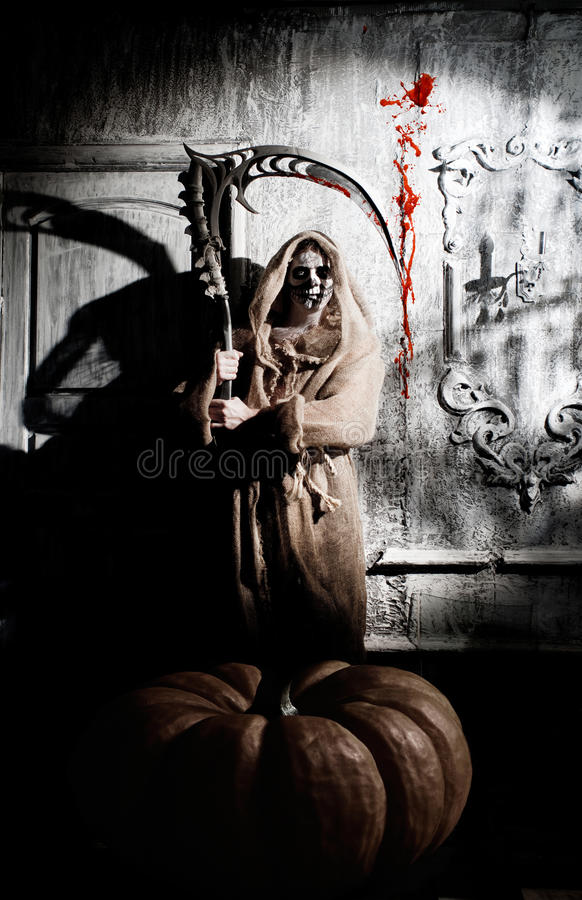 Download Scary death stock image. Image of holidays, blood, ghost - 34076303