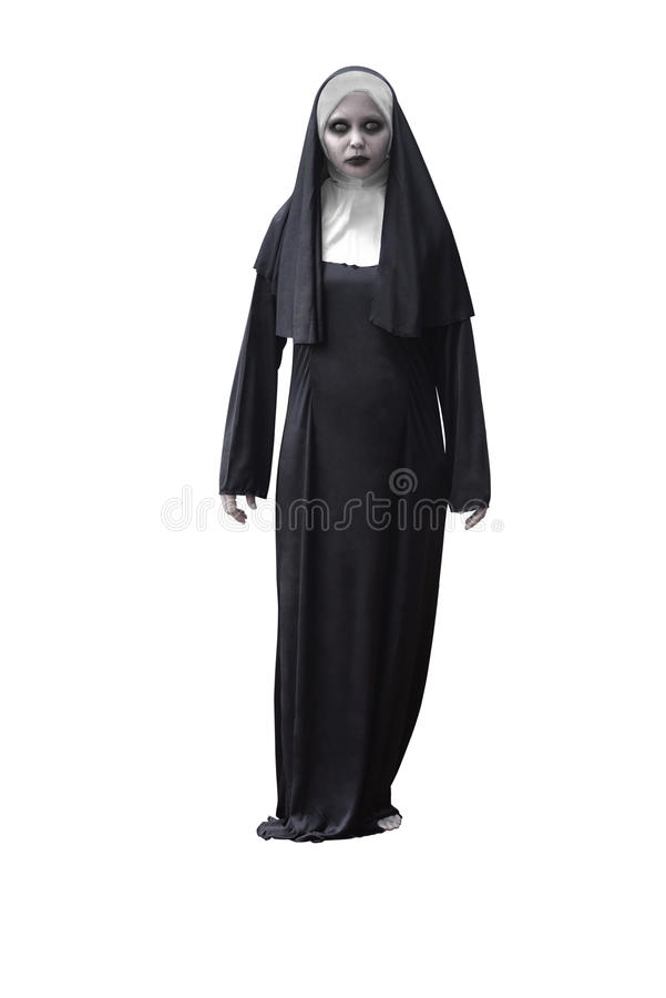 Scary Devil Nun royalty free stock images