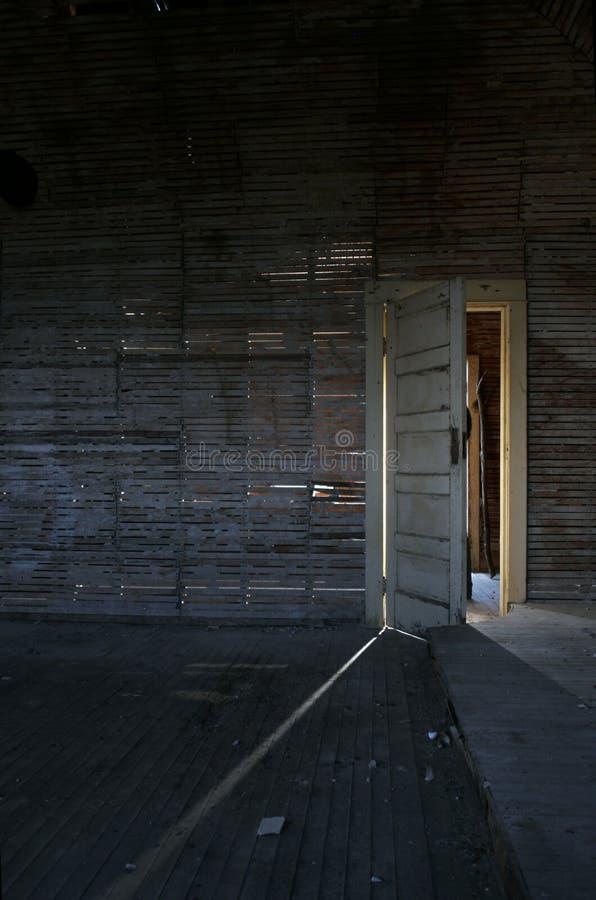 Scary door stock photos