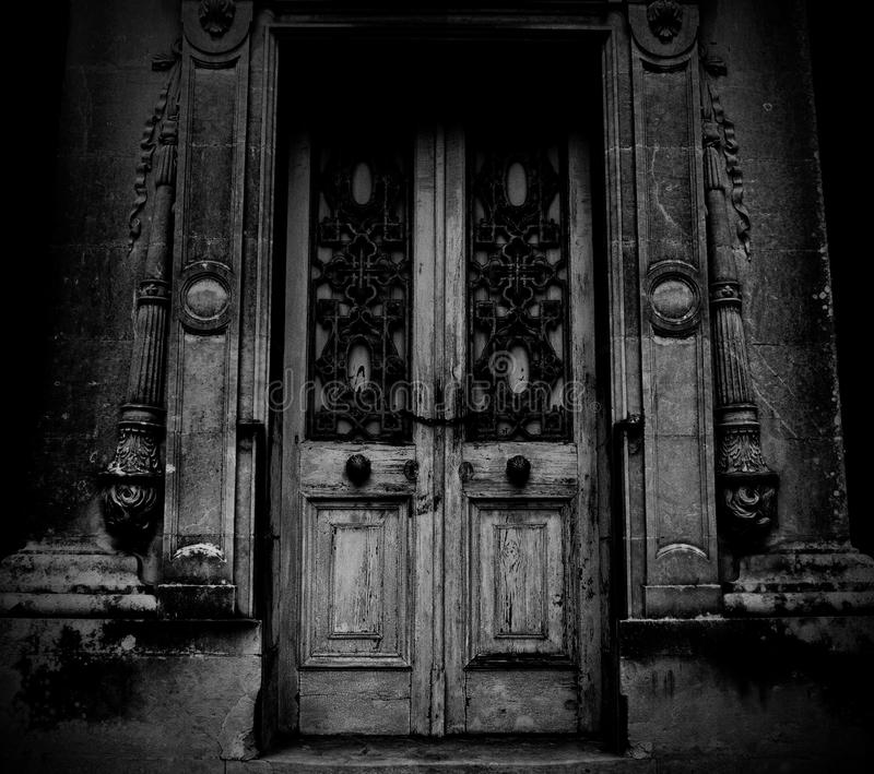 Download A Scary Door Of An Abandoned House Stock Image - Image of aged chain  sc 1 st  Dreamstime.com & A Scary Door Of An Abandoned House Stock Image - Image of aged ...