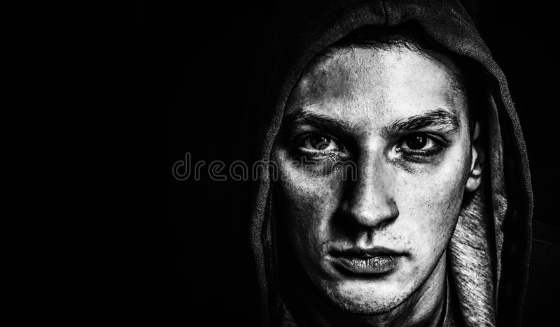 Man In Darkness royalty free stock photos