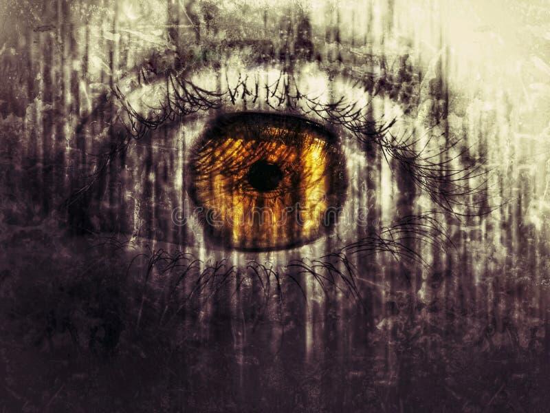 Scary eye stock photography