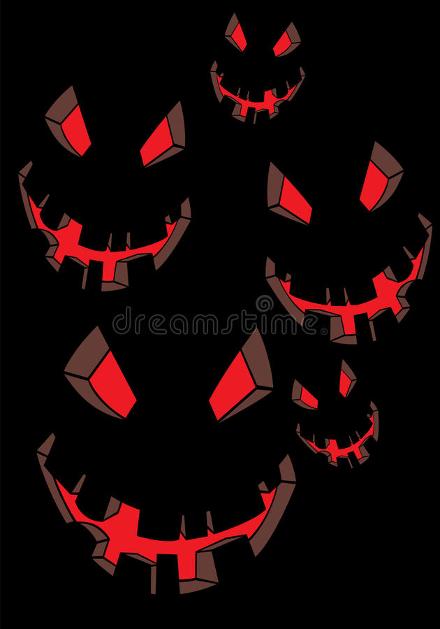Download Scary face stock vector. Image of halloween, party, festival - 21212957