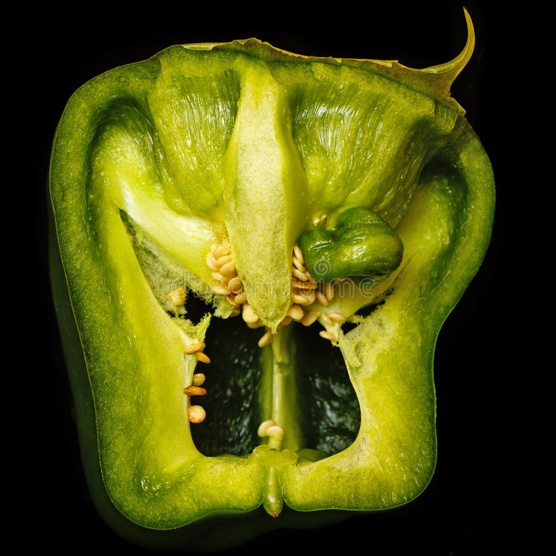 Scary face of pepper stock images
