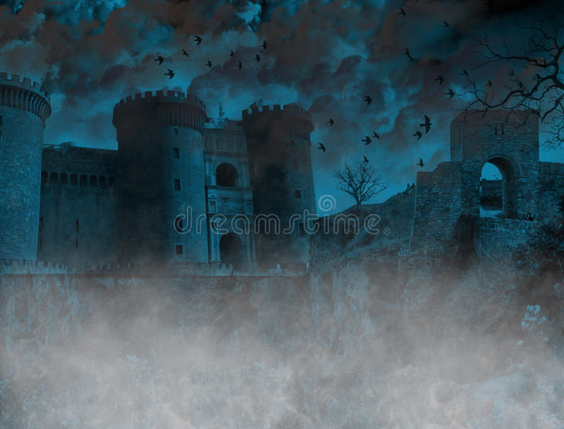 Scary foggy place royalty free illustration
