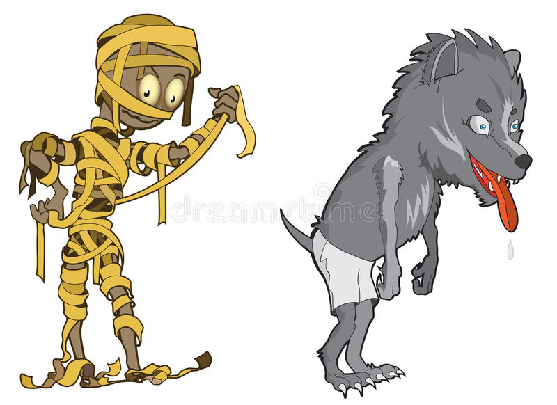 Scary and funny Halloween Monsters royalty free stock images