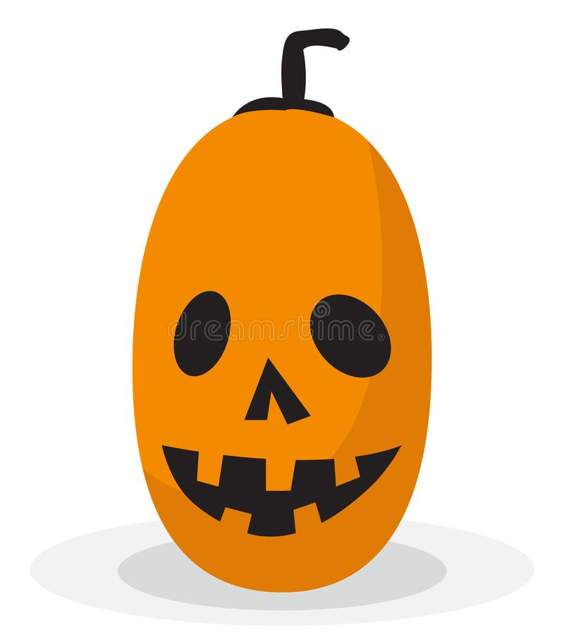 Scary and funny halloween pumpkin icon vector illustration