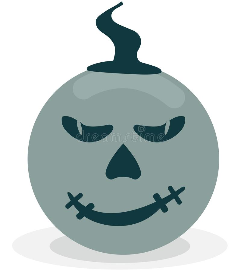 Scary and funny pumpkin icon vector illustration