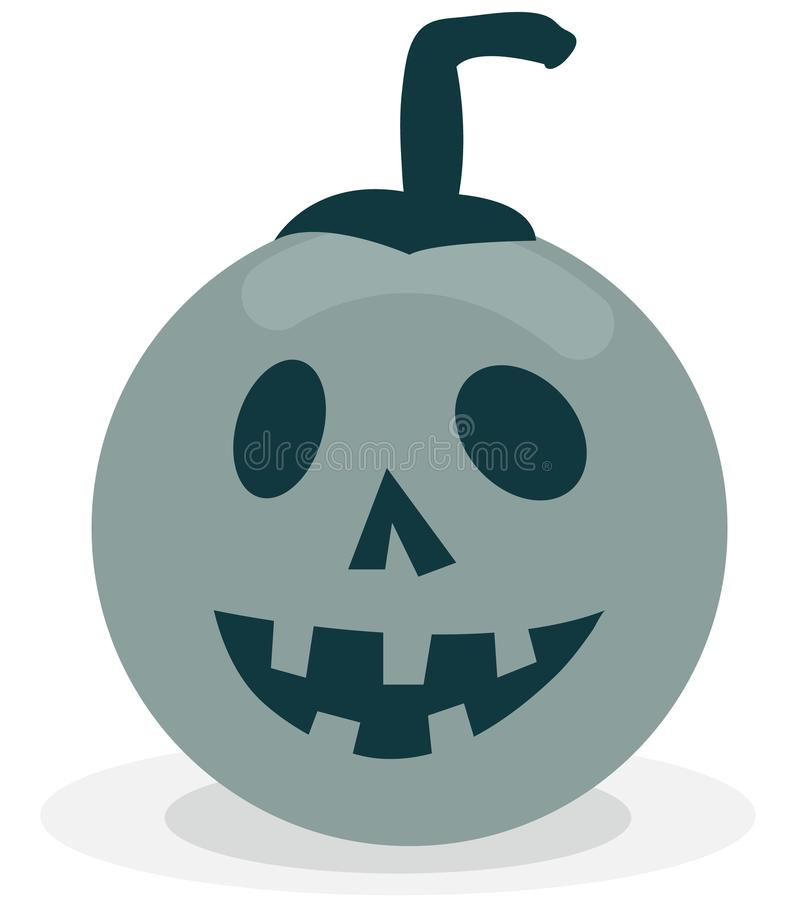 Scary and funny pumpkin icon royalty free illustration