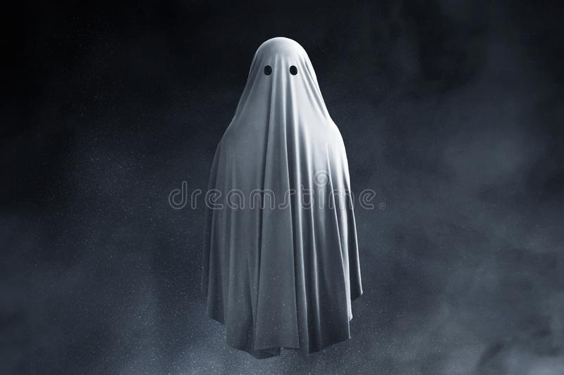 Scary ghost on dark background. S royalty free stock photography