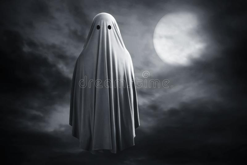 Scary ghost on dark background. S royalty free stock images