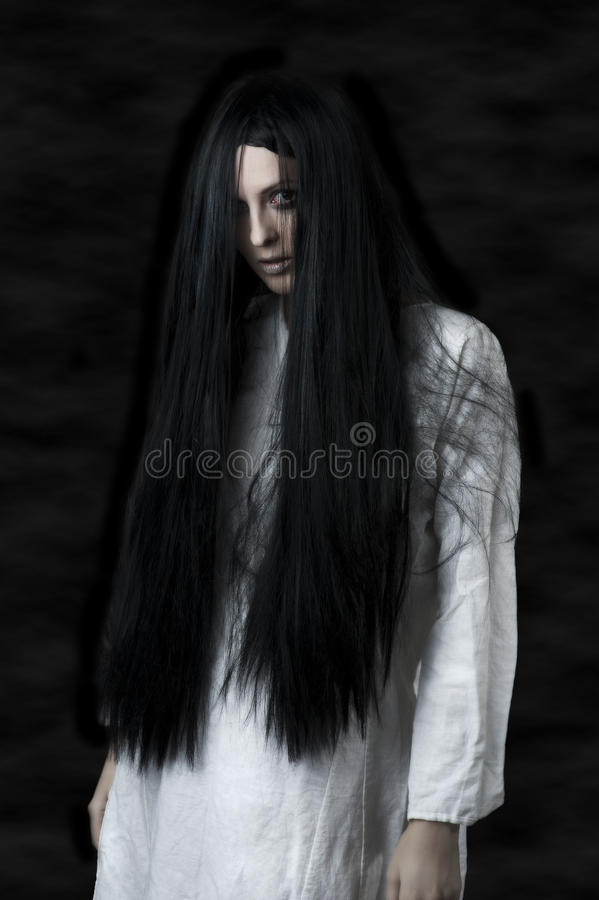Download A scary ghost girl stock photo. Image of cosmetics, expression - 25078936