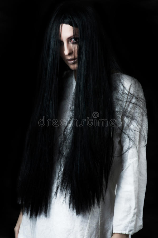 Download A scary ghost girl stock photo. Image of face, cosmetics - 26523546