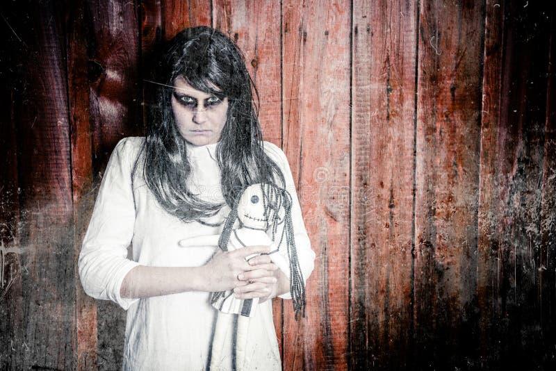 A scary ghost girl stock photos