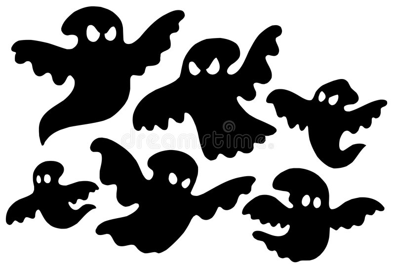 Download Scary Ghost Silhouettes Vector Stock Vector - Image: 6620474