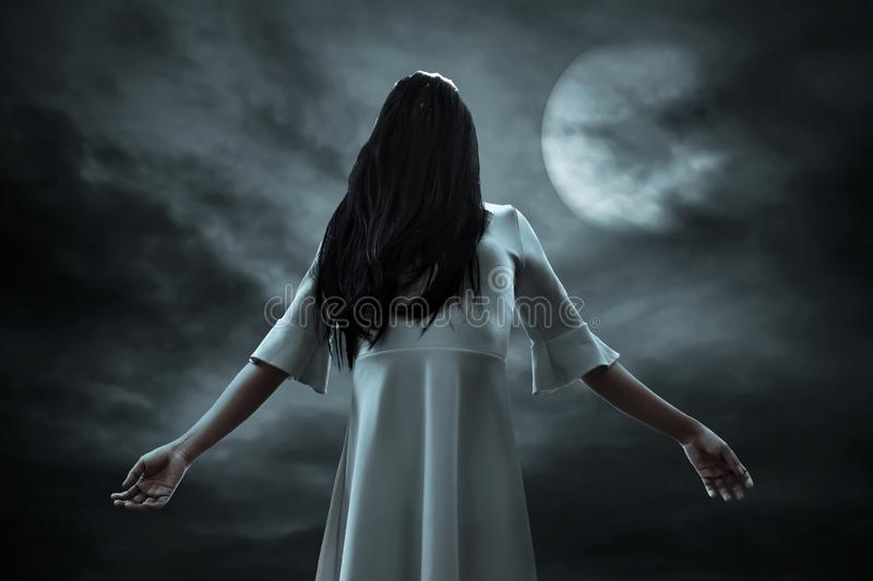Scary ghost woman, halloween theme. S royalty free stock photo
