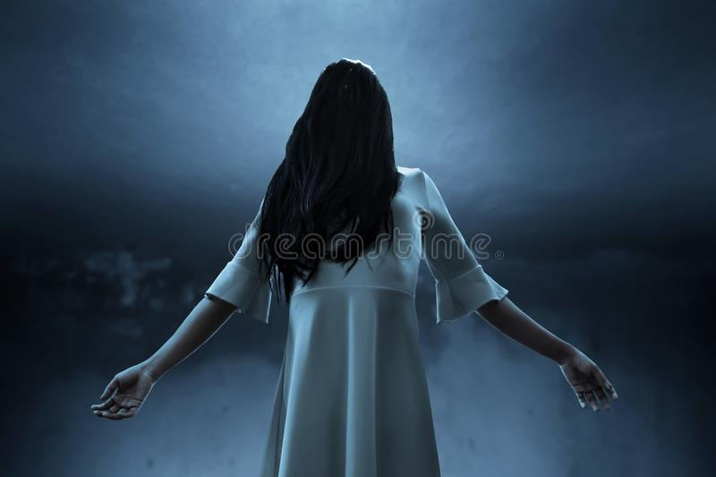 Scary ghost woman, halloween theme. S stock images