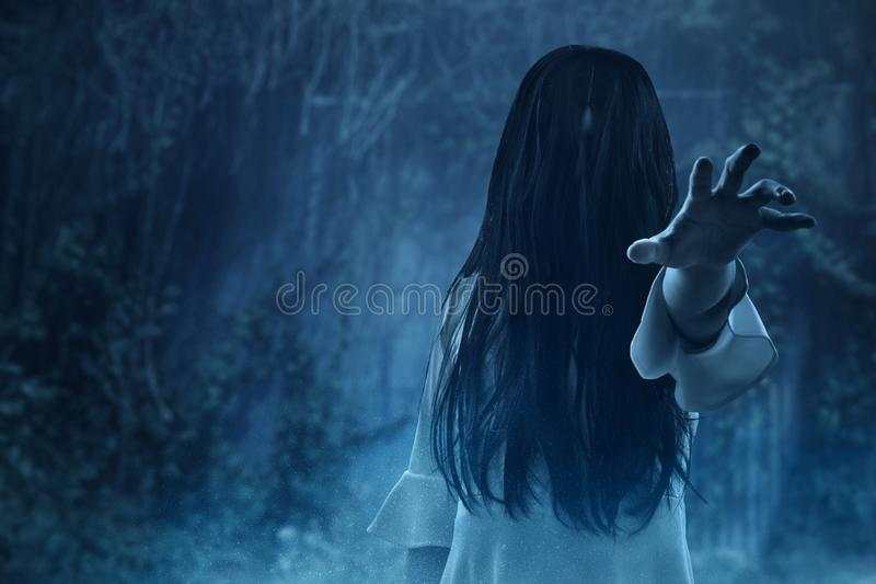 Scary ghost woman, halloween theme. Scary ghost women, halloween theme stock image