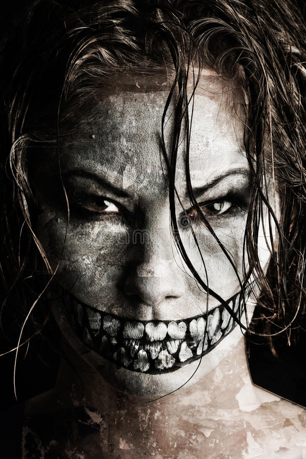 Scary girl stock photography