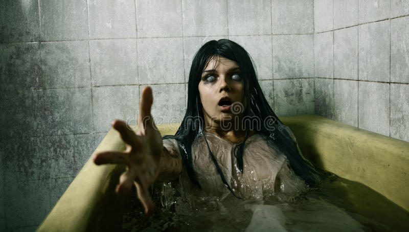 Download Scary girl in bath stock photo. Image of cruel, contacts - 21306310