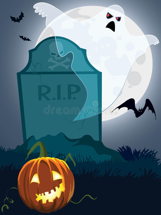 Scary Grave Royalty Free Stock Photos
