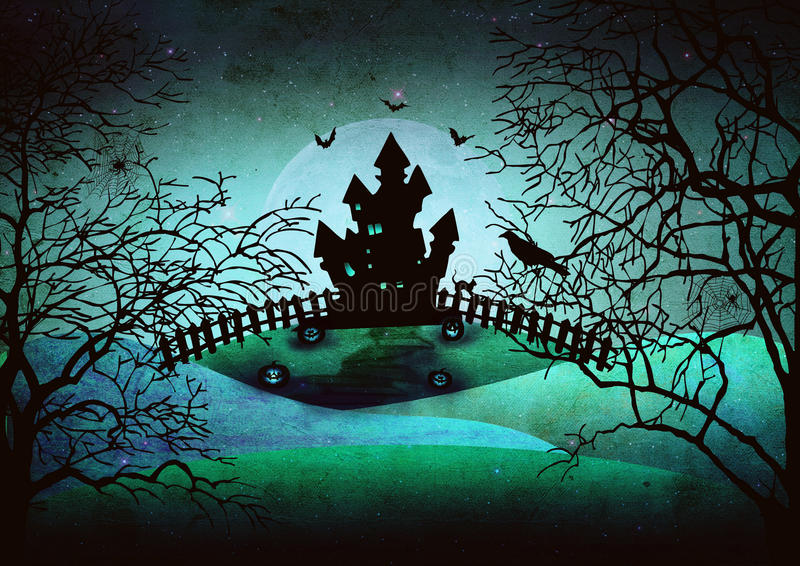 Download Scary halloween background stock illustration. Image of halloween - 34281547