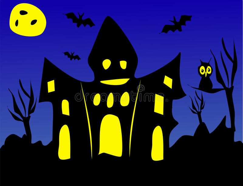 download scary halloween or haunted house stock illustration illustration of ghostly ghost 40083177