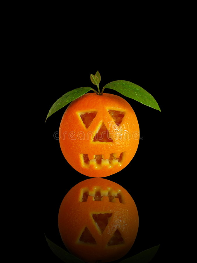 Scary Halloween orange stock photos