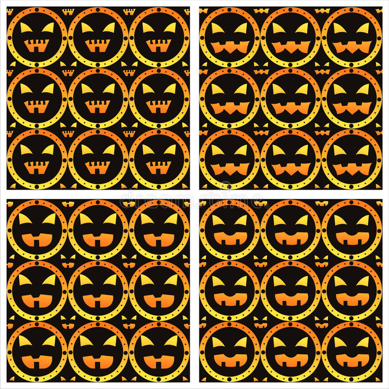 Scary Halloween Patterns Royalty Free Stock Photos