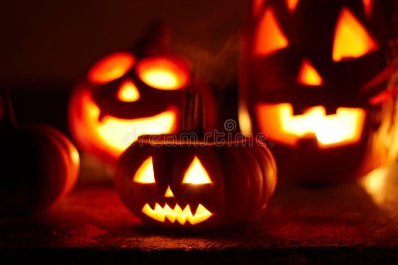 Scary Halloween Pumpkin Royalty Free Stock Photo