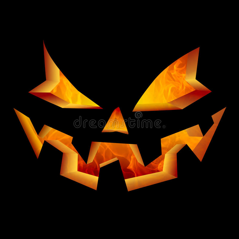 scary halloween pumpkin face carved jack o lantern laughing and smiling fire flames lighting interior - Scary Halloween Pumpkin Faces