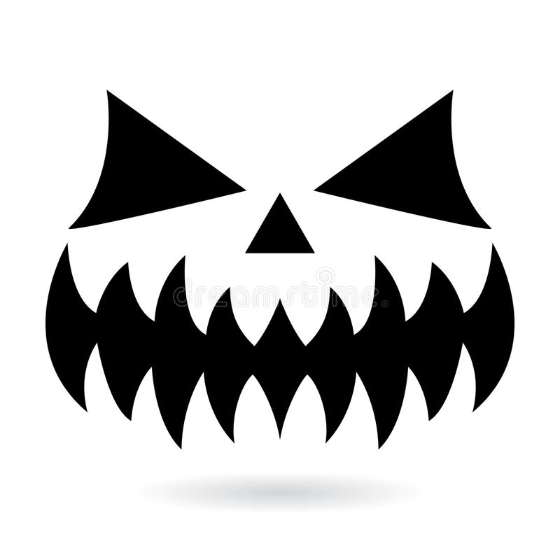 Scary Halloween Pumpkin Face Vector Design, Ghost Or Monster Mouth ...