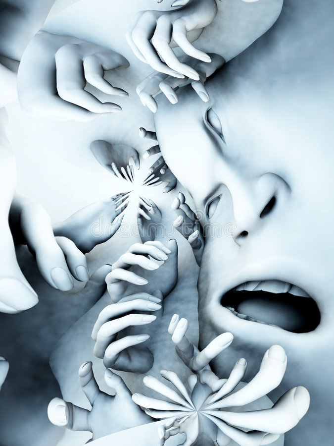 Download Scary Head 28 stock image. Image of abstract, beset, figure - 2106949