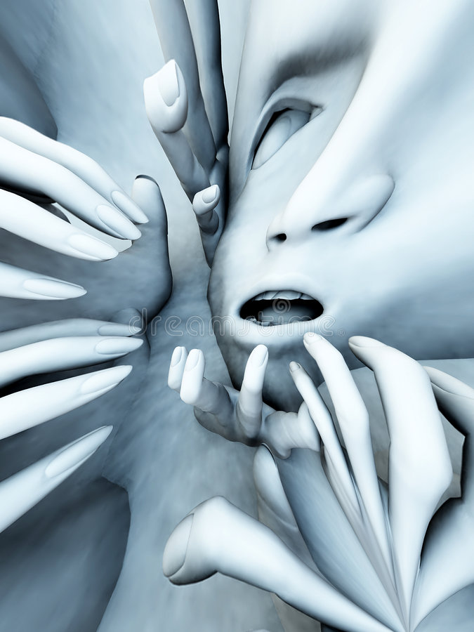 Download Scary Head 33 stock illustration. Image of abstract, emotional - 2106971