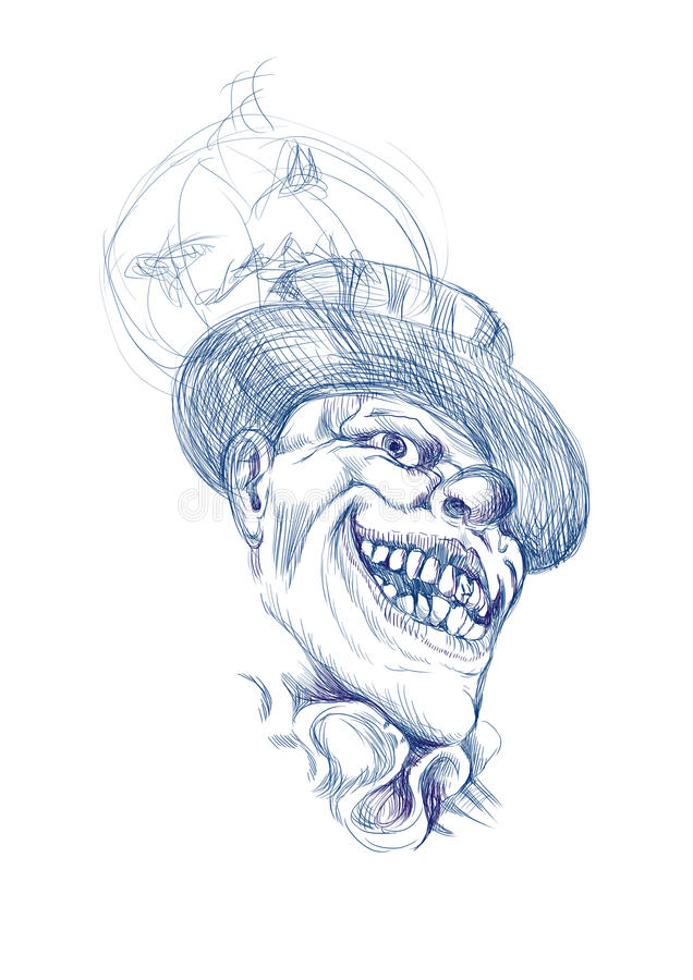 Scary horror clown royalty free illustration