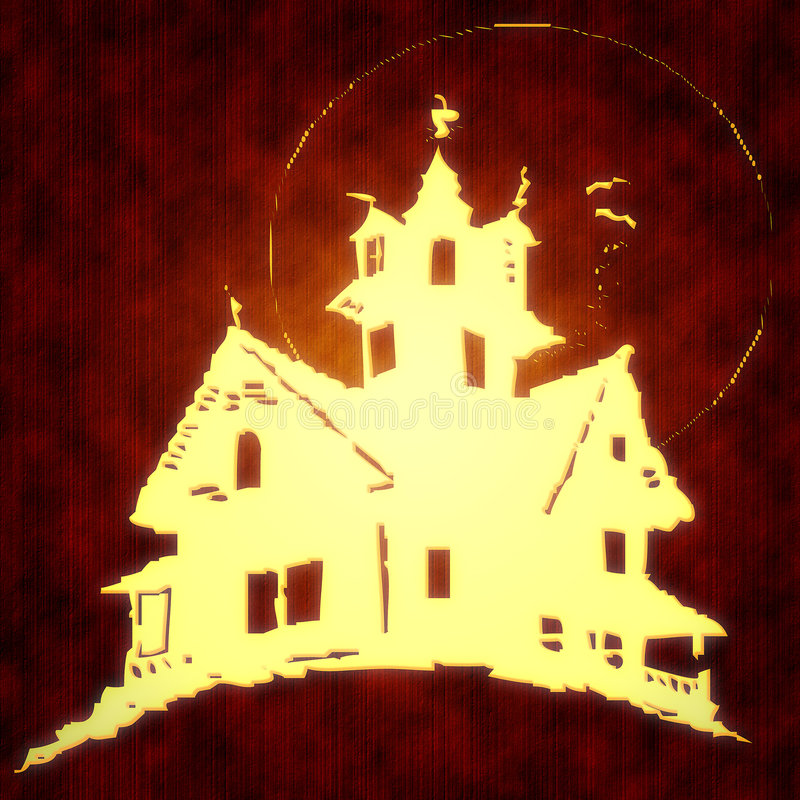 Scary house vector illustration