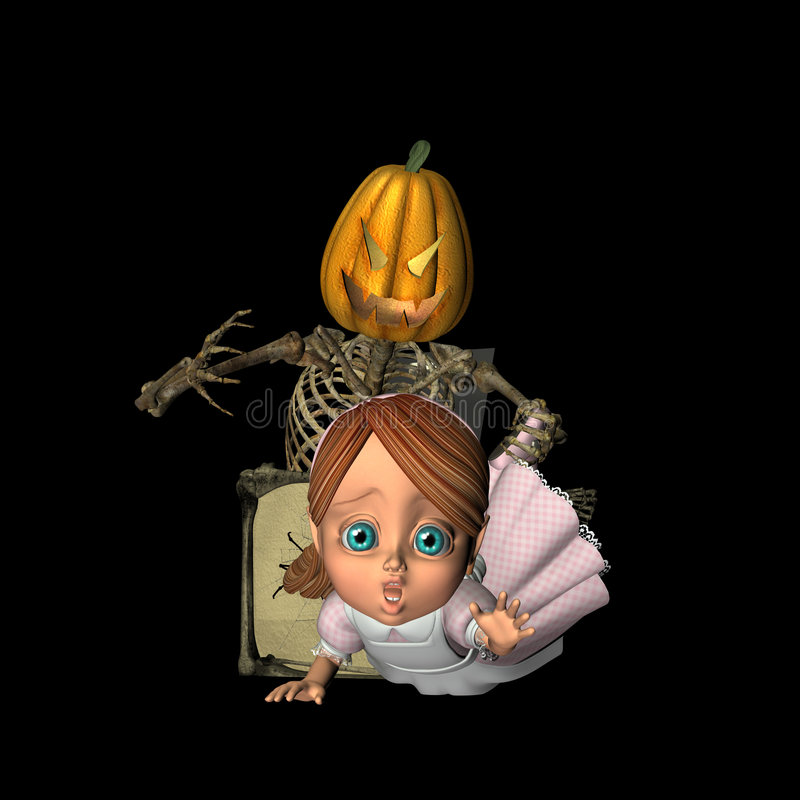 Scary Jack-in-the-Box stock images