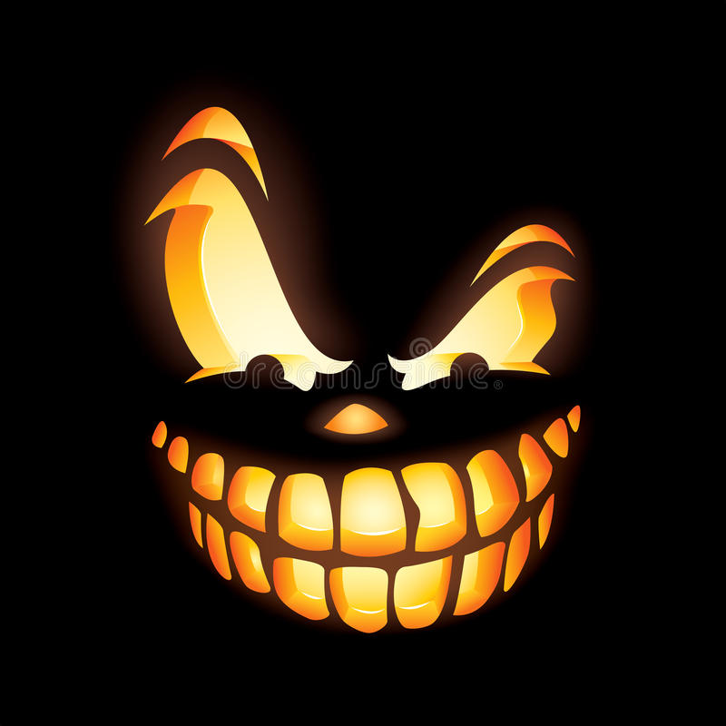 Scary jack o lantern stock vector illustration of carving