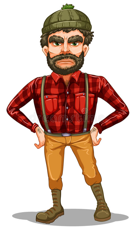 Download A Scary Lumberjack Standing Stock Vector - Image: 34134122