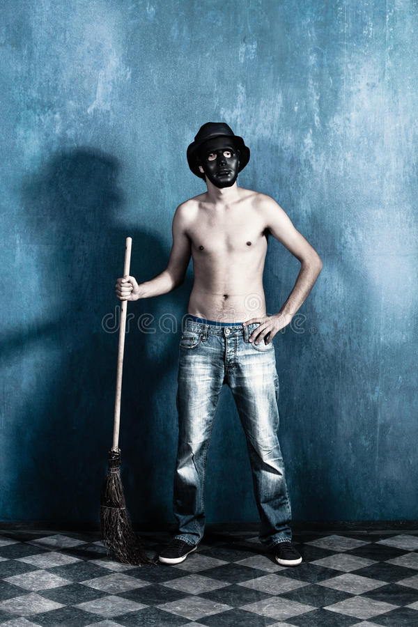 Download Scary man stock photo. Image of jeans, crazy, shirtless - 26479016