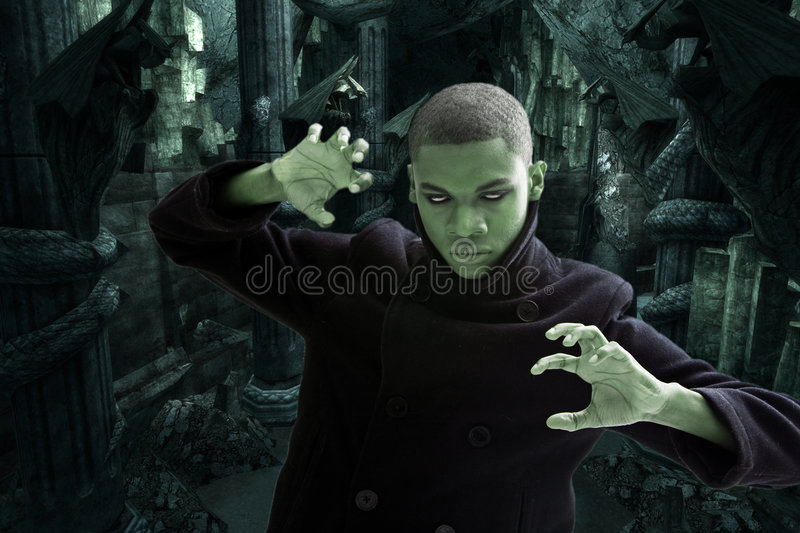 Download Scary Man In Dungeon Stock Image - Image: 7559051