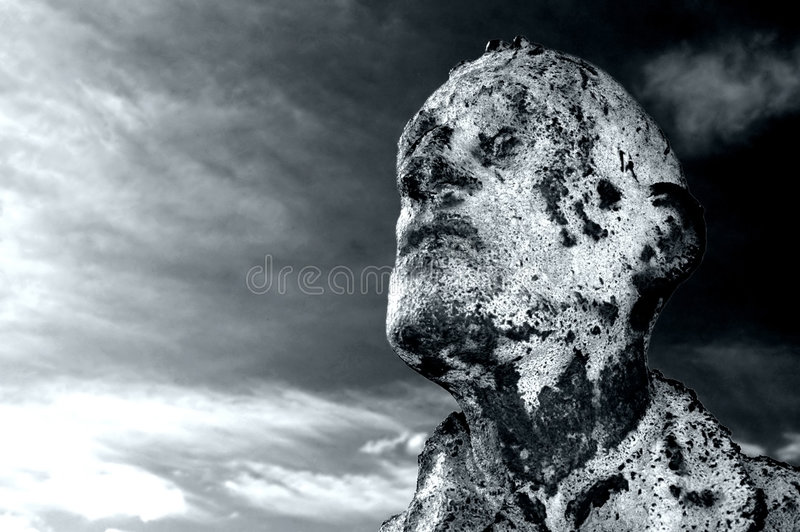 Scary Mans Face royalty free stock images