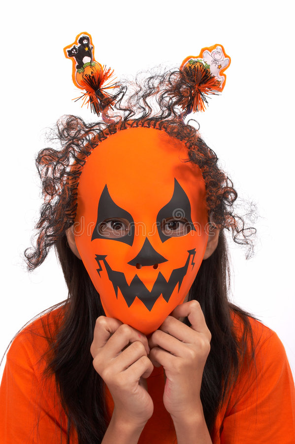 Scary mask stock image