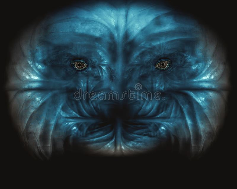 Scary monster face image royalty free illustration