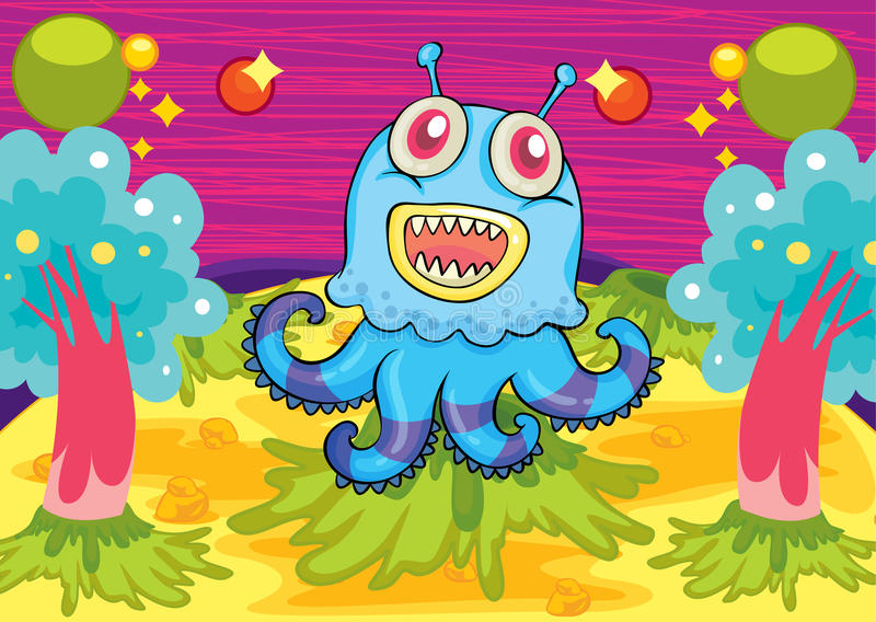Download A scary monster stock vector. Image of imaginary, horrible - 30697843