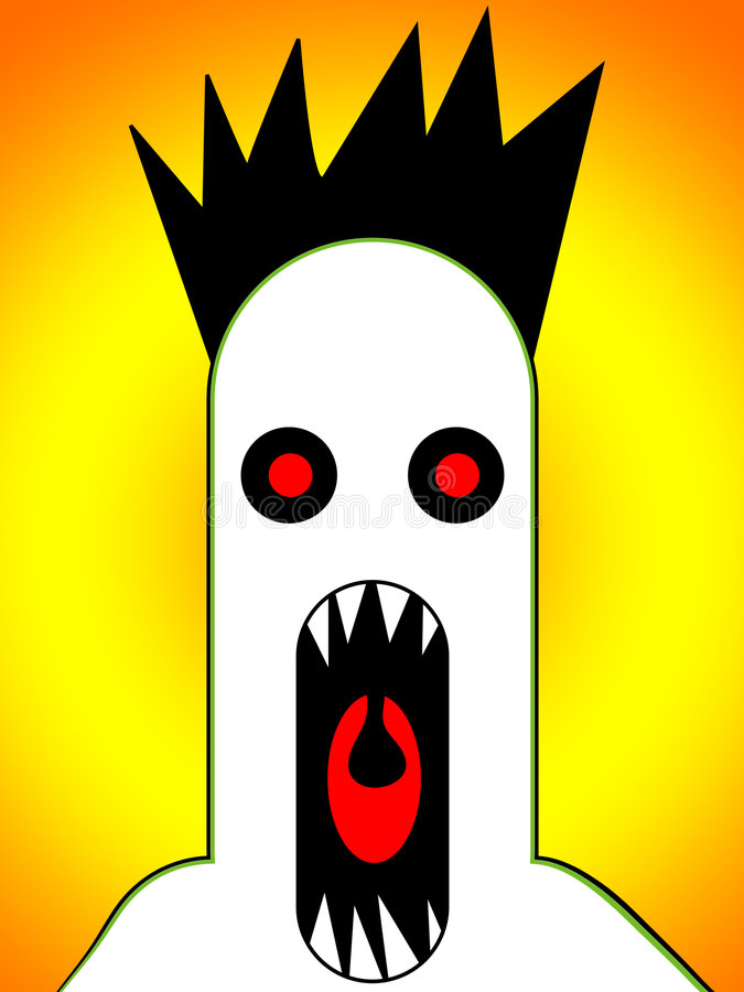 Scary Monster Screaming 4 royalty free illustration