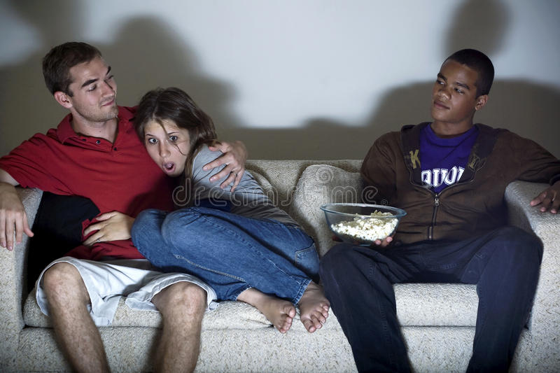 Scary Movie, Good Date royalty free stock photography