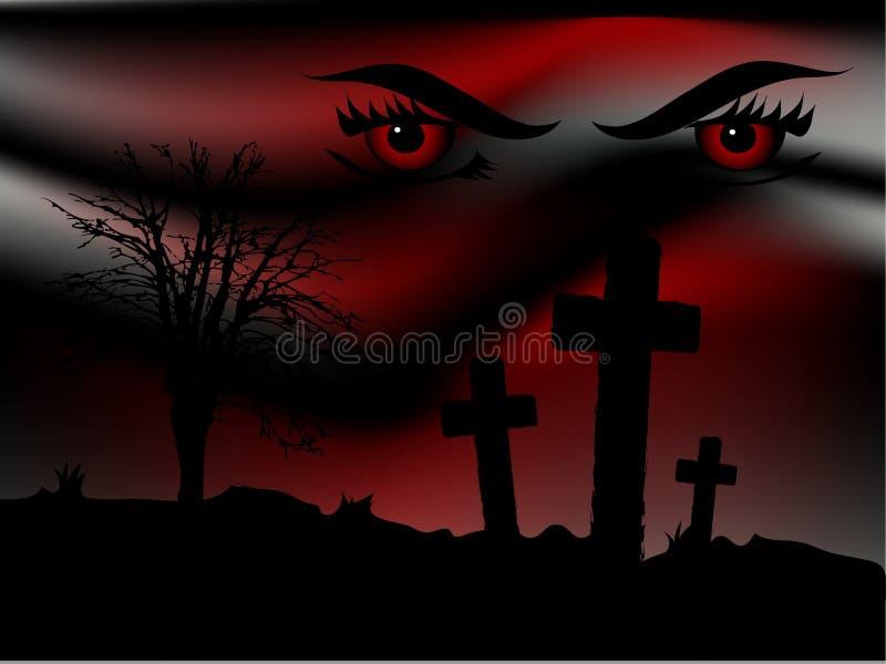 Download Scary night stock vector. Image of dracula, eyelash, concept - 15030137